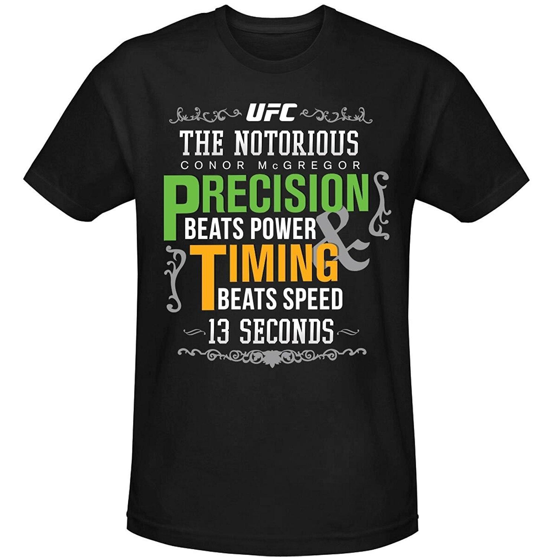 0e906c100c34 men s fashion shirt cheap men t-shirt UFC Conor McGregor 13 Seconds Quote T-