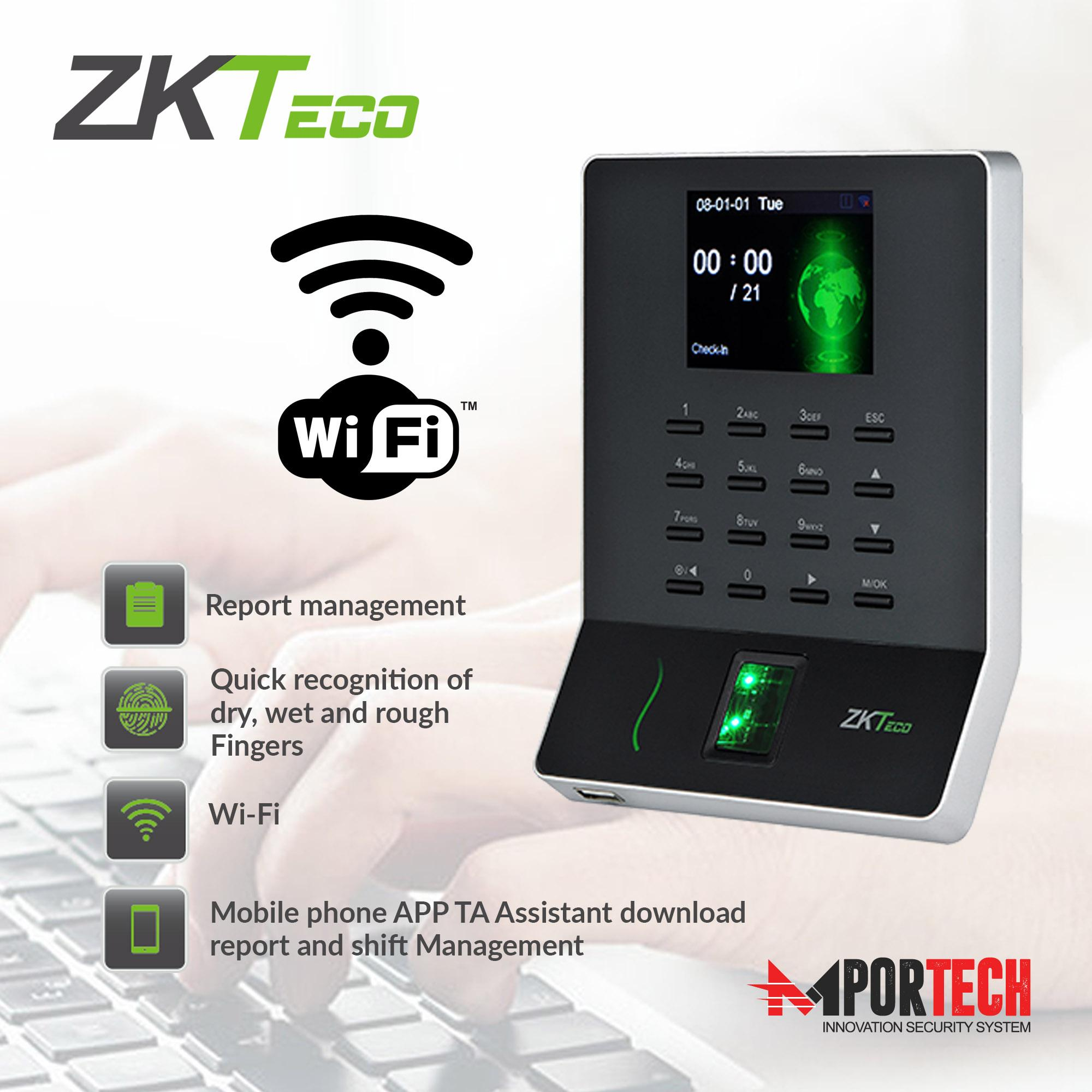 ZKTeco Biometric Fingerprint Time Attendance Employee Checking-in/out with  Wi-Fi Module WL20