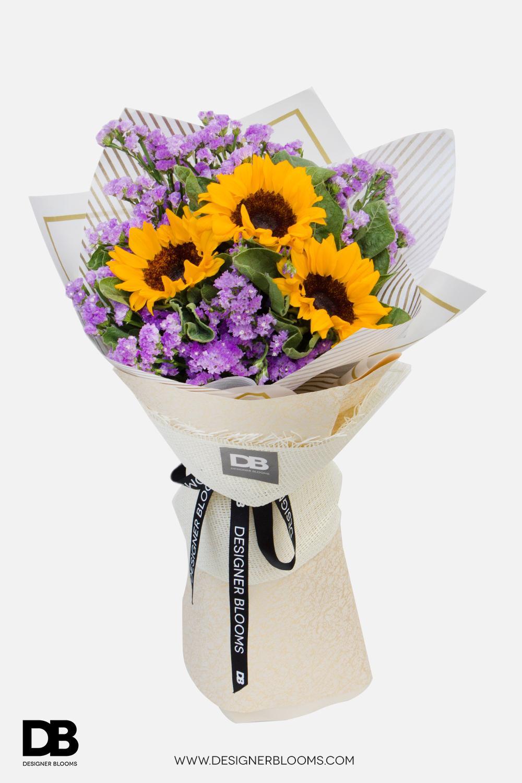 Three Sunflower in a Vase