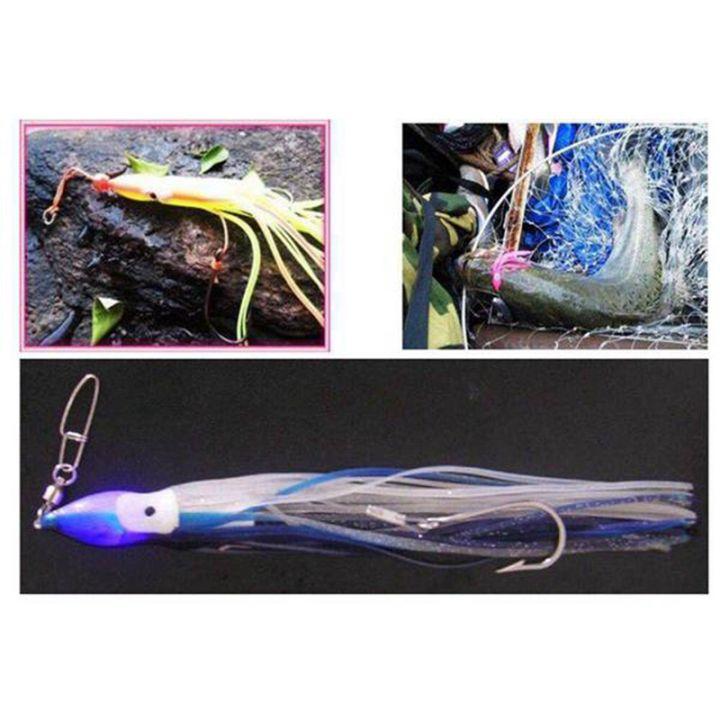 30pcs Octopus Squid Skirt Fishing Lure Hoochies Bait Saltwater Soft Fish Lure