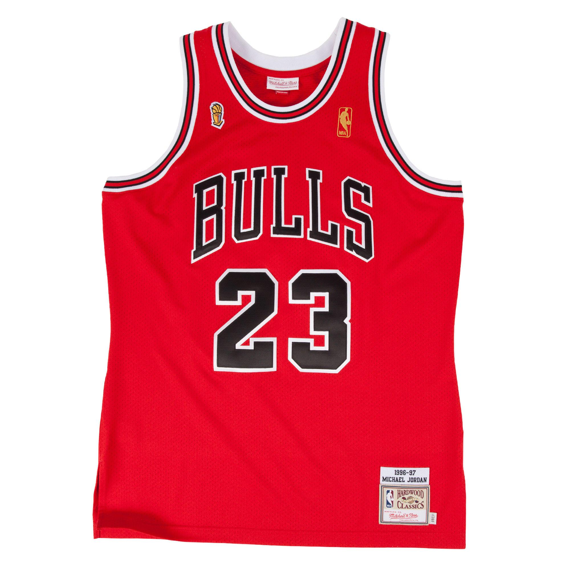 925eaaebe6e NBA BASKETBALL RETRO JERSEY Michael Jordan 1996-97 Authentic Jersey Chicago  Bulls