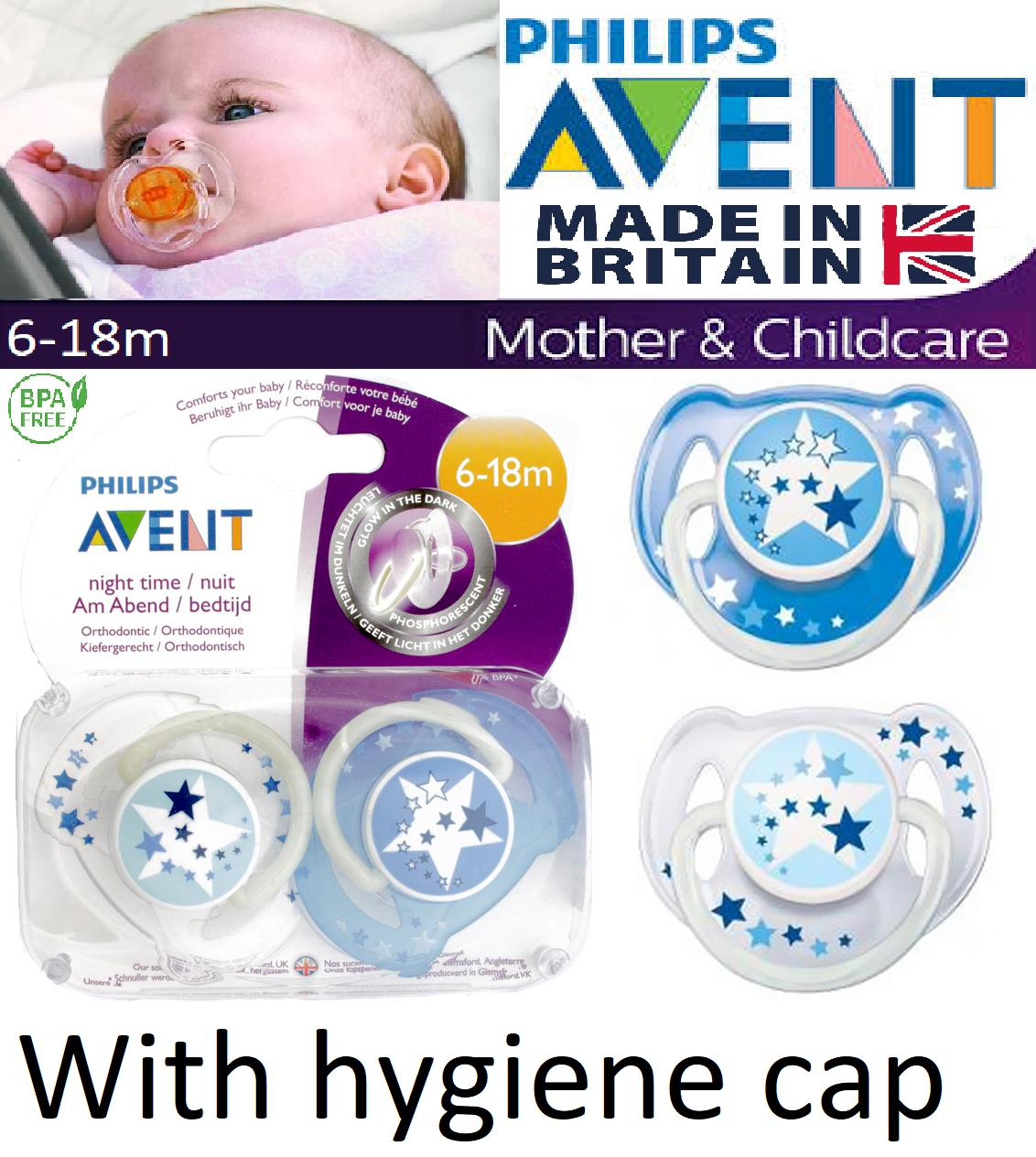 PHILIPS AVENT PERSONALISED DUMMIES SOOTHERS TWIN PACK MOUSE PACIFIERS