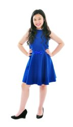 Baby Fashionista Bejeweled Flare Dress (Royal Blue)