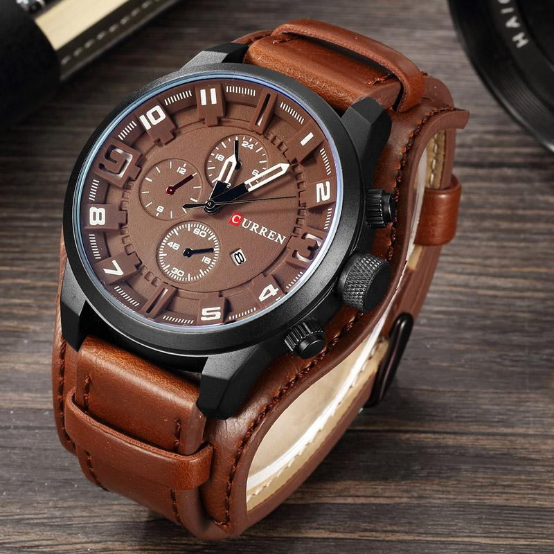 08e0e888 CURREN 8225 Men Watch Luxury Military Quartz Men's Watches Waterproof  Leather Fashion Casual Outdoor Sport Wristwatch