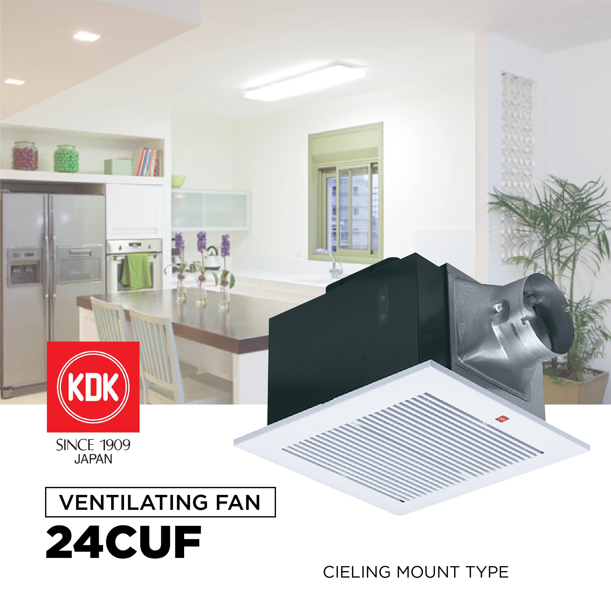 "KDK 24CUF 10"" Ceiling Mount Type Ventilating Fan | Lazada PH"