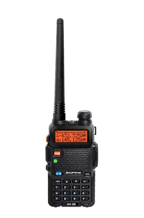 Baofeng UV-5R Two-Way Radio with Earpiece (Black)