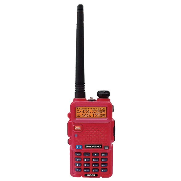 Baofeng UV-5R Two-Way Radio with Earpiece (Red)