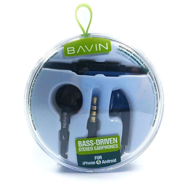 Bavin Bass Driven Stereo Earphones (Black) - thumbnail
