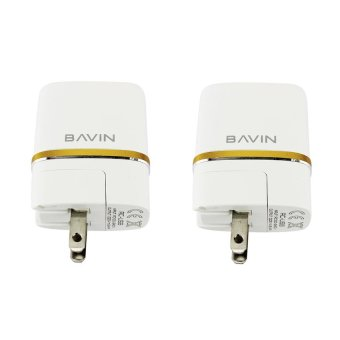 Bavin DL-AC52 2 Ports USB Charger Adapter Set of 2 (White)