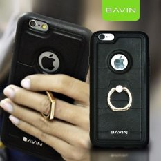 "Bavin Leather/TPU Case with Ring Holder for iPhone 6 Plus 5.5"" (Black"