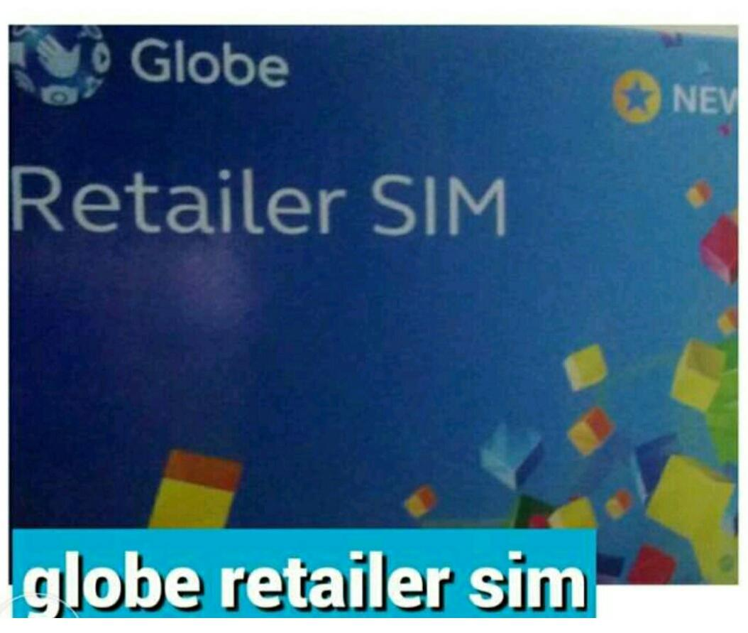 Globe retailer sim with free 150 loadwallet