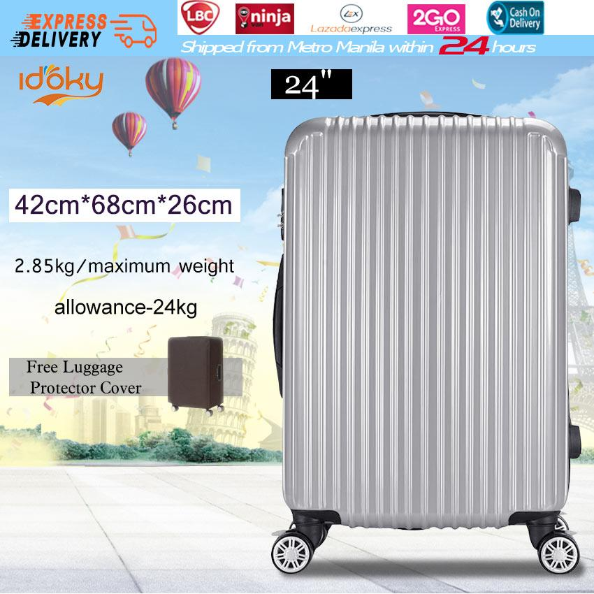 034404f10 Idoky PH502 Popular 24 Inch Suitcase With【Explosion Proof Zipper】Hard Case  Luggage Bags
