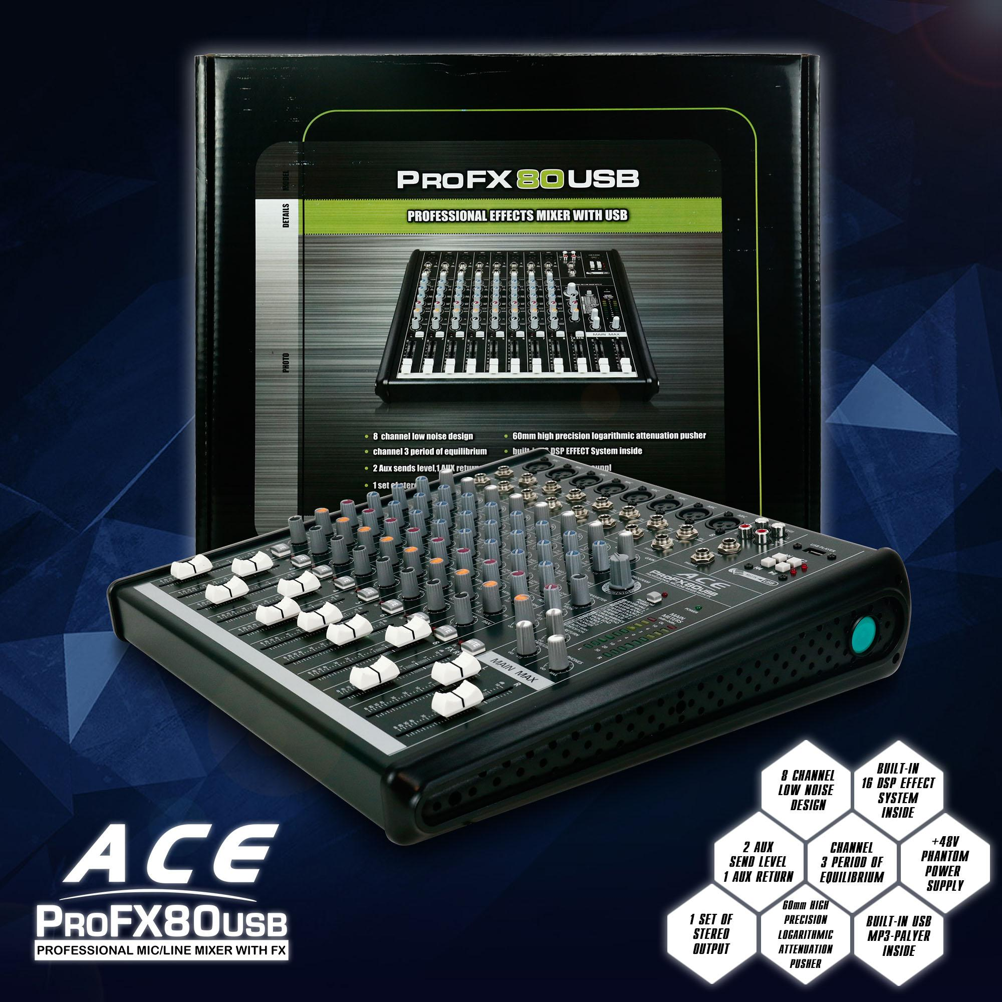 Mixers For Sale Audio Interface Prices Brands Specs In How To Build Mini Stereo Mixer Mic Line Pc Card Ace Profx80usb Professional With Fx