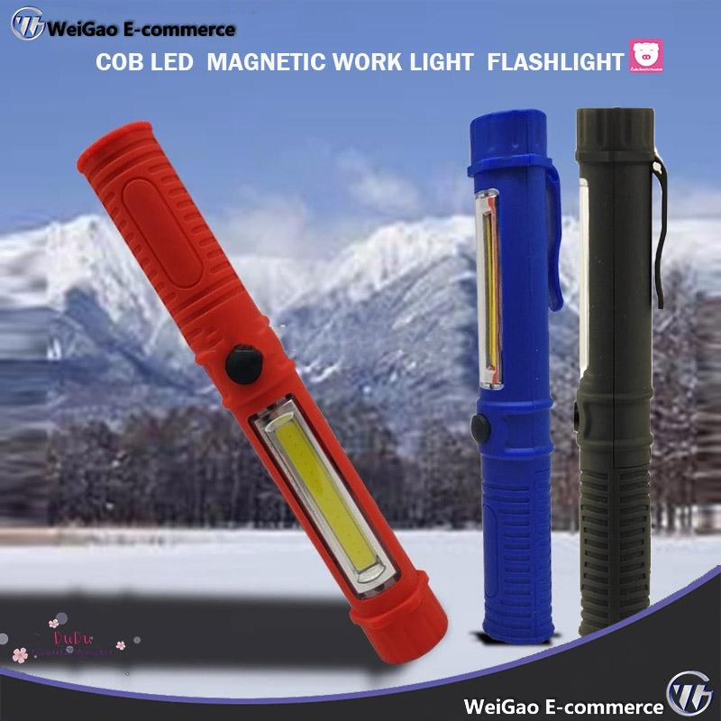 Livarnolux LED Work Light 2in1 cob Technology  Powerful Magnets Black Blue