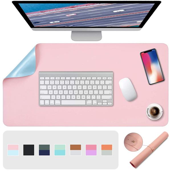 zhuge Waterproof Large Laptop Computer Writing Mat Home Office Anti-slip PU Leather Double-sided Mouse Pad Keyboard Mice Mat Malaysia
