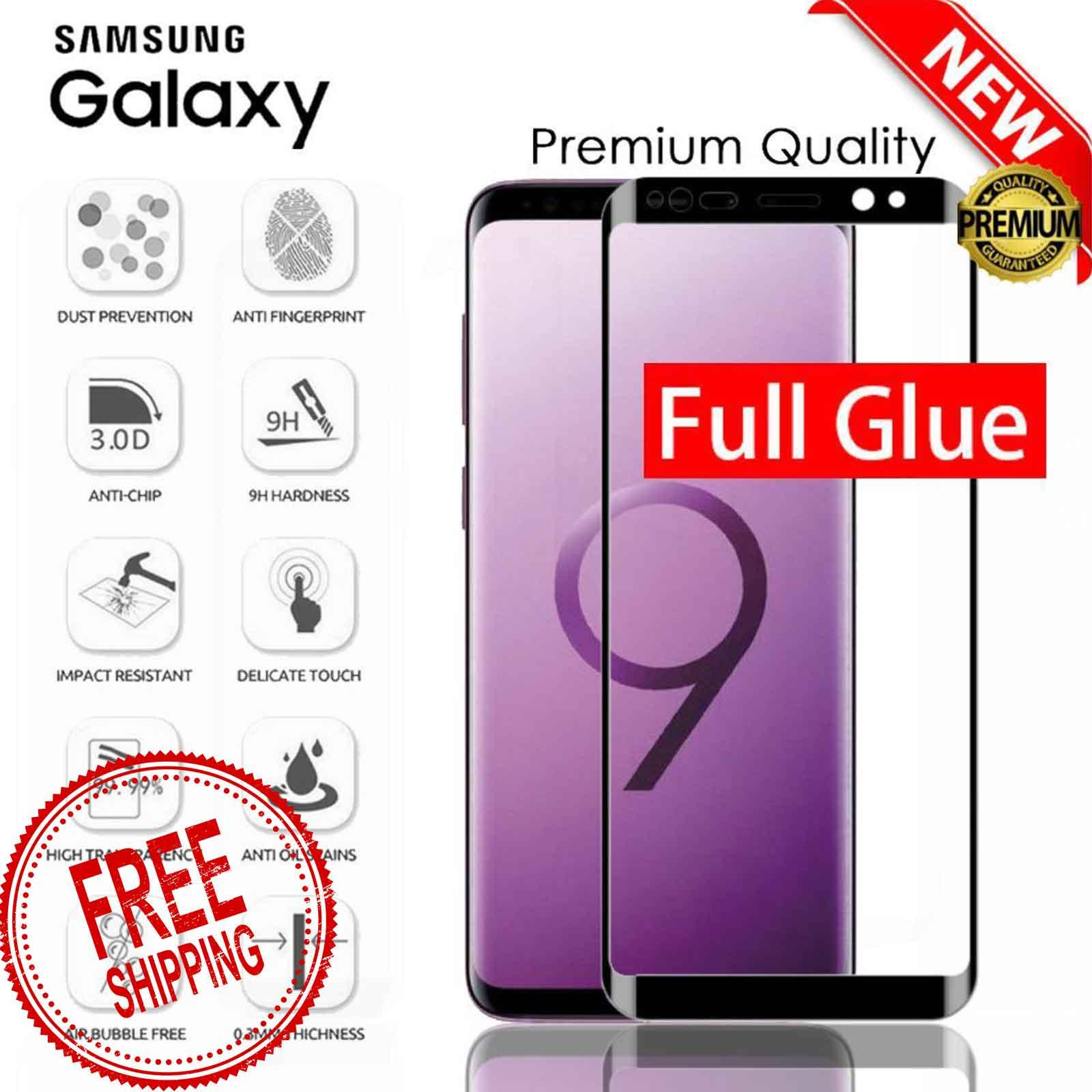Full Glue Adhesive 3D Tempered Glass for Samsung Galaxy S8 S8 Plus S9