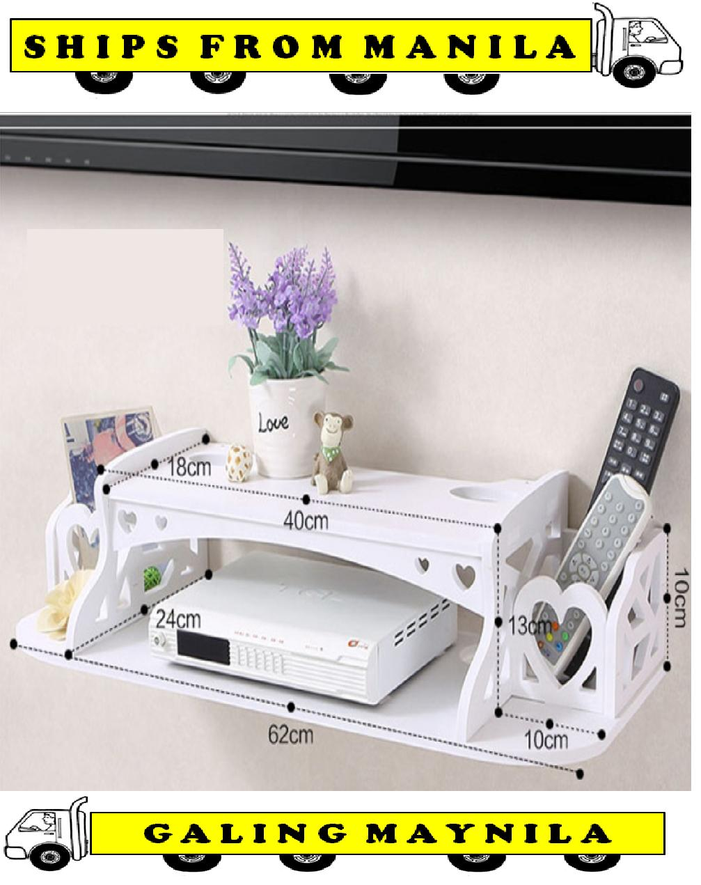 Ultralite Floating Under Tv Shelf For Dvd Cable Box 2 Shelf Small