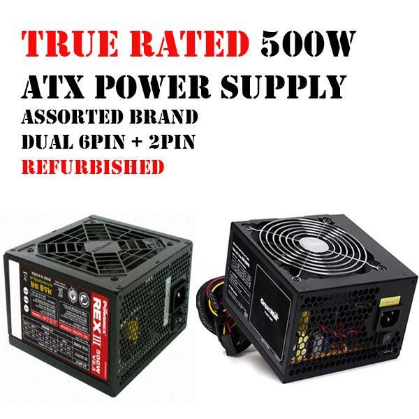 500W ATX TRUE RATED POWER SUPPLY