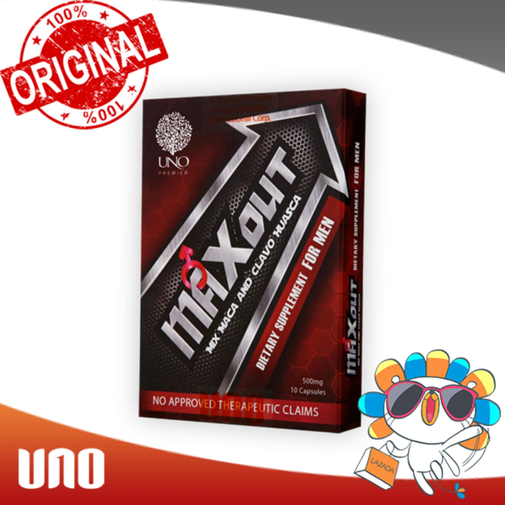 UNO Original MAX-OUT 10 Capsules maxout natural boost men performance