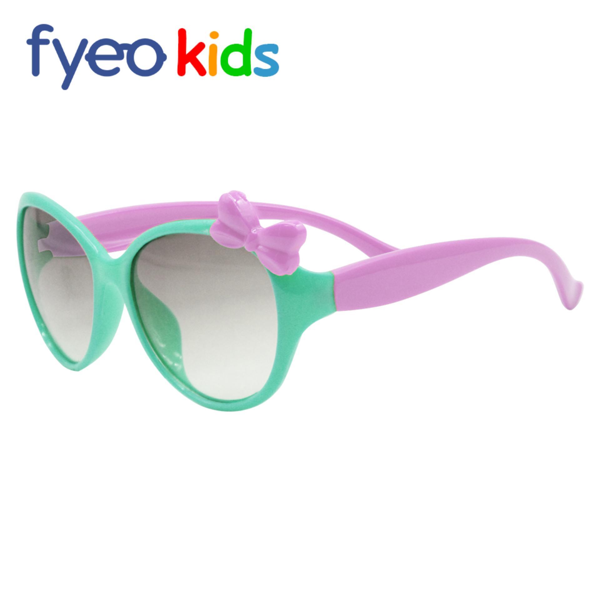 672e451bc007 Anti-UV Sunglasses for Kids Girls Ribbon Fashion Sunglasses Frame:Teal  Leg:Pink