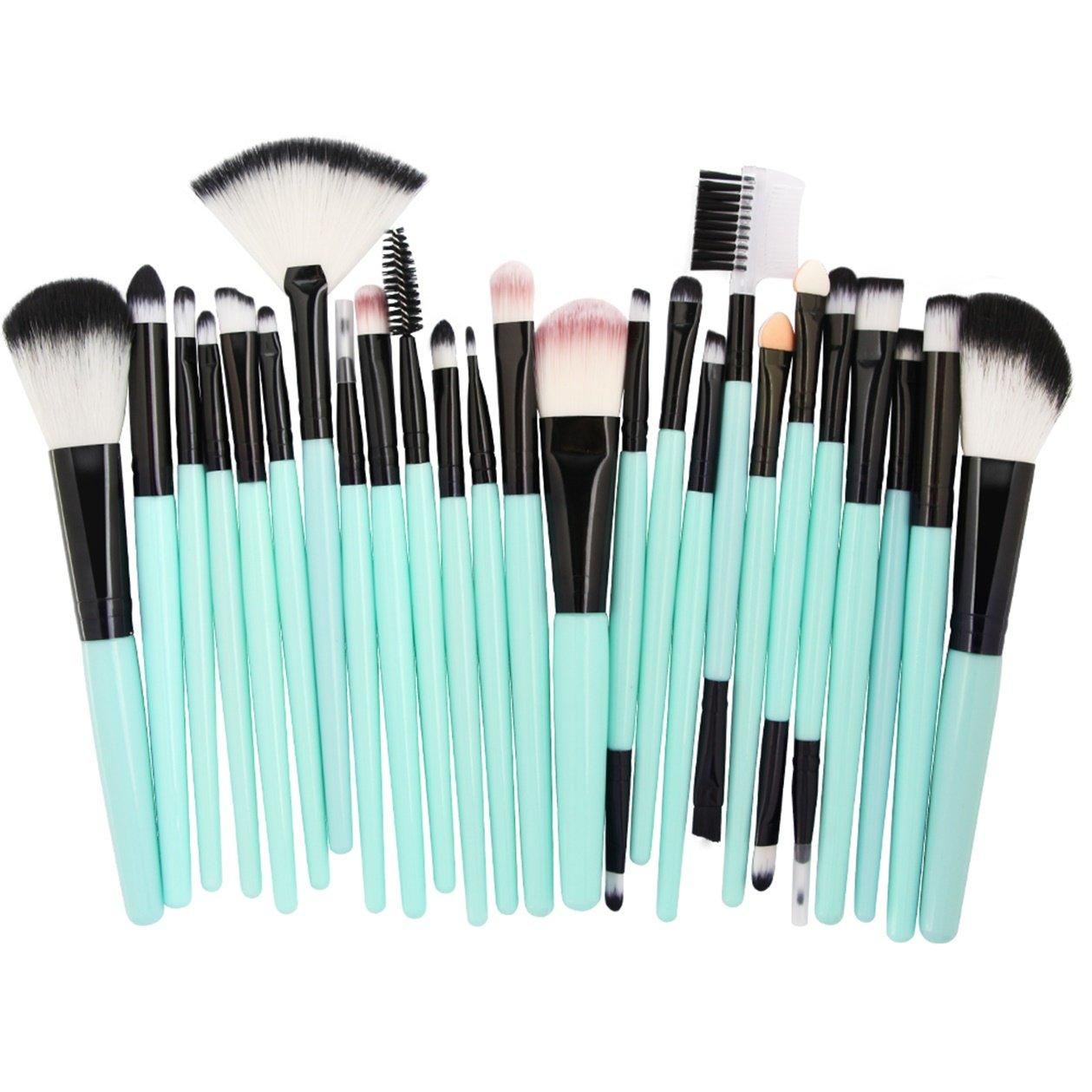 25pcs Professional Make Up Brush Set ( Light Blue&Black ) Philippines