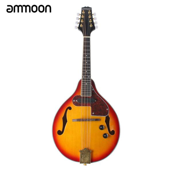 ammoon Adjustable 8-String Electric A Style Mandolin Rosewood Fingerboard String Instrument with Cable Strings Cleaning Cloth Malaysia