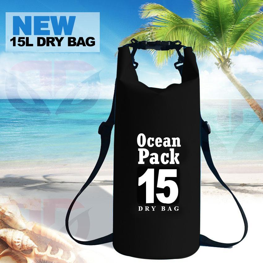 D&D Ocean Pack 15 Liter Universal Swimming Diving Hiking Portable Outdoor Waterproof Storage Dry Bag (15L) image on snachetto.com