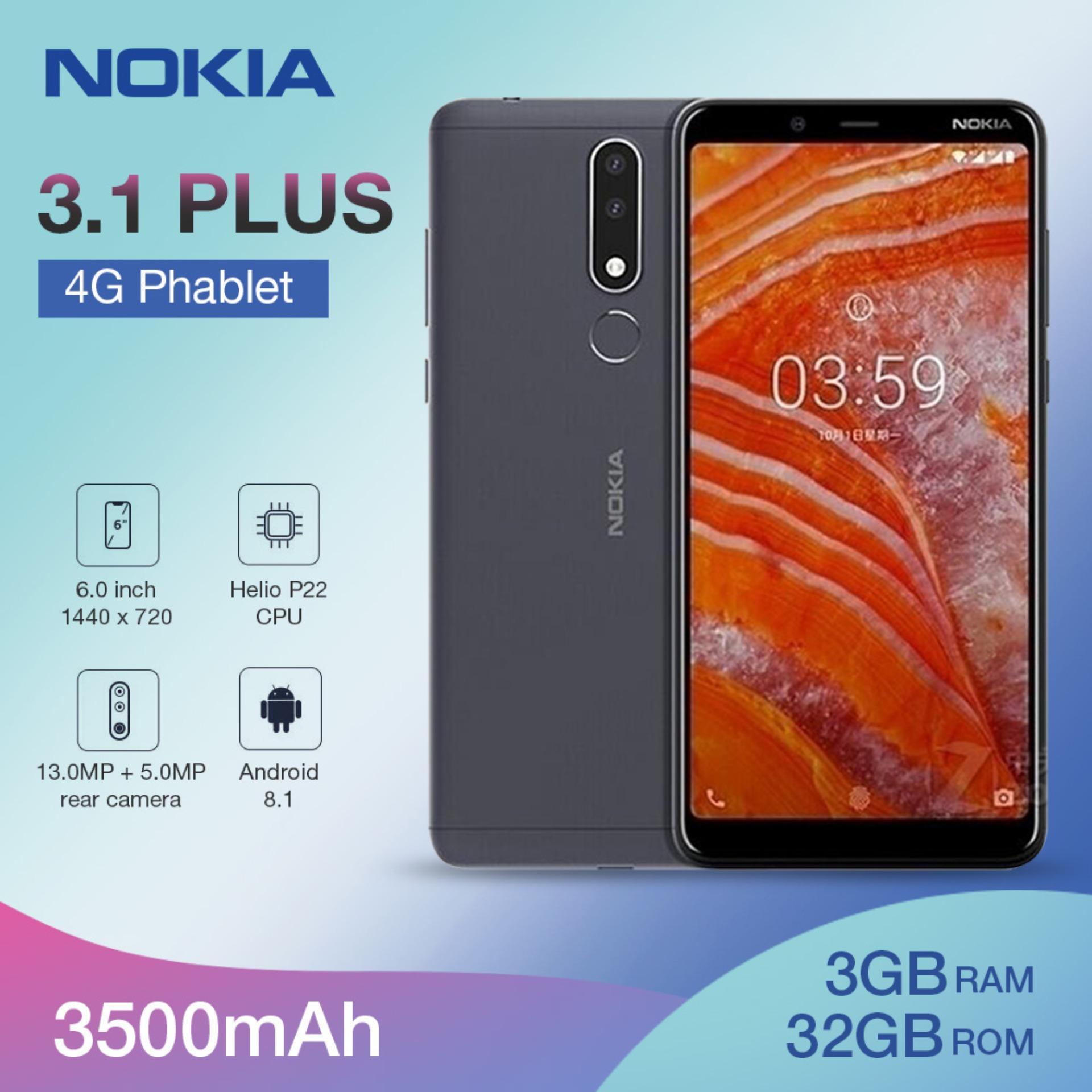 Original Nokia 3 1 Plus 4G Phablet 6 0 inch Android 8 1 MTK 6762 ( Helio  P22 ) Octa Core 2 0GHz 3GB RAM 32GB ROM 13 0MP + 5 0MP Rear Camera