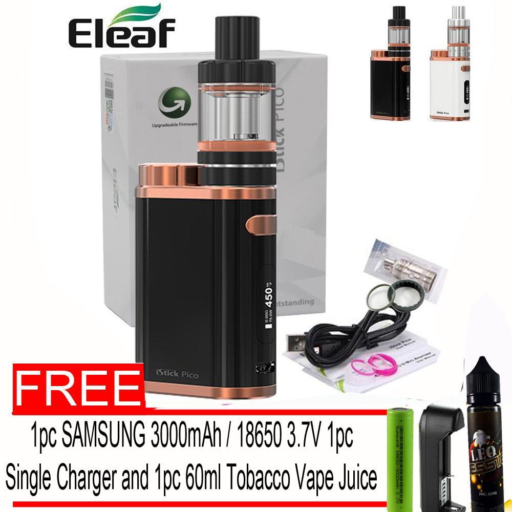 Eleaf iStick Pico 75W Starter Kit Vape E-Cigarette Smok ,Vape  (Bronze/Black) With Free 1pc 18650 Samsung 3000mah Battery 1pc Universal  Single Charger