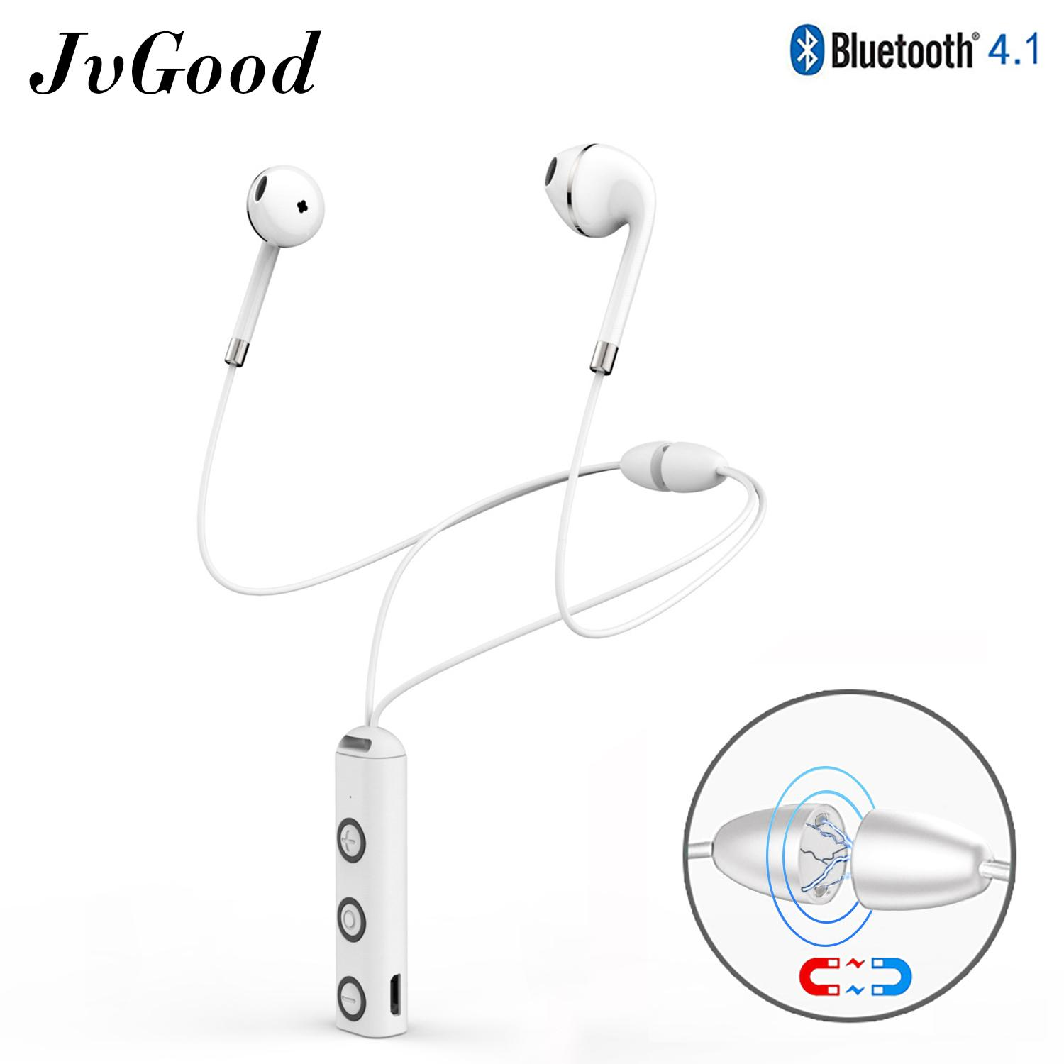3dfa2d2082f JvGood Wireless Earbuds Necklace Earphones Bluetooth Headsets Hands-free  Earphones Sports Headphones Stereo Voice Announcement