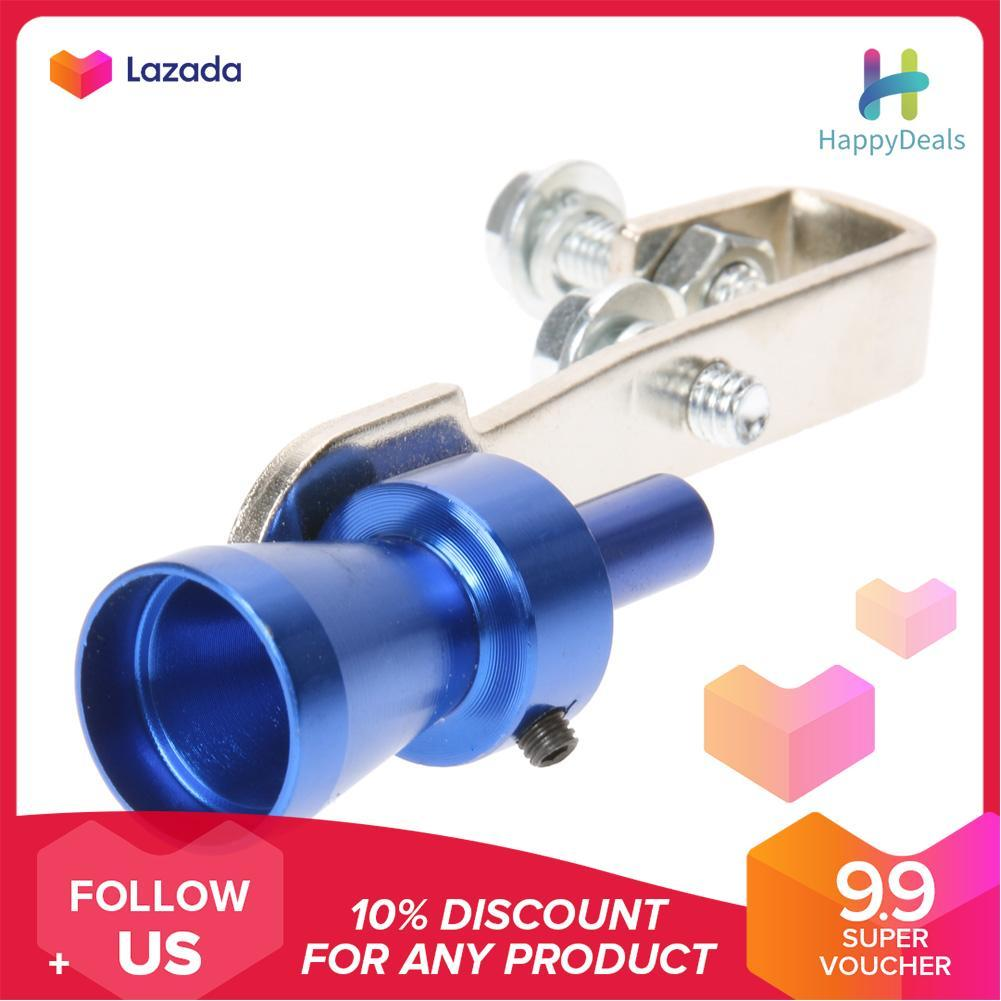 {9 9 Hot Sale Festival}Size S Universal Car Turbo Sound Whistle Muffler  Exhaust Pipe(Blue) - intl