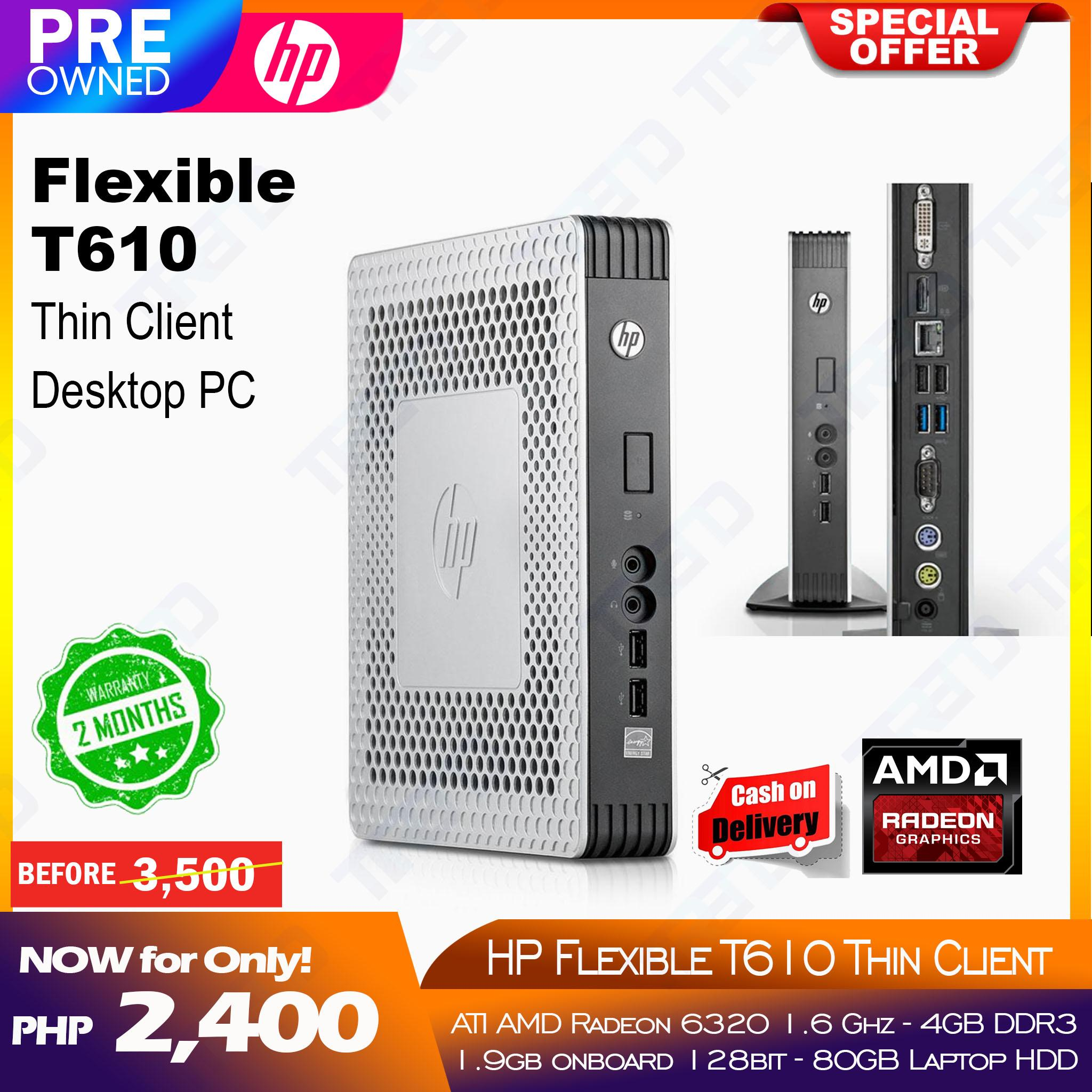 HP Flexible T610 Thin Client Desktop PC
