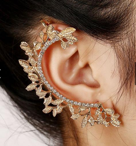 Earrings Ear Clip Crystal Rhinestone For Women