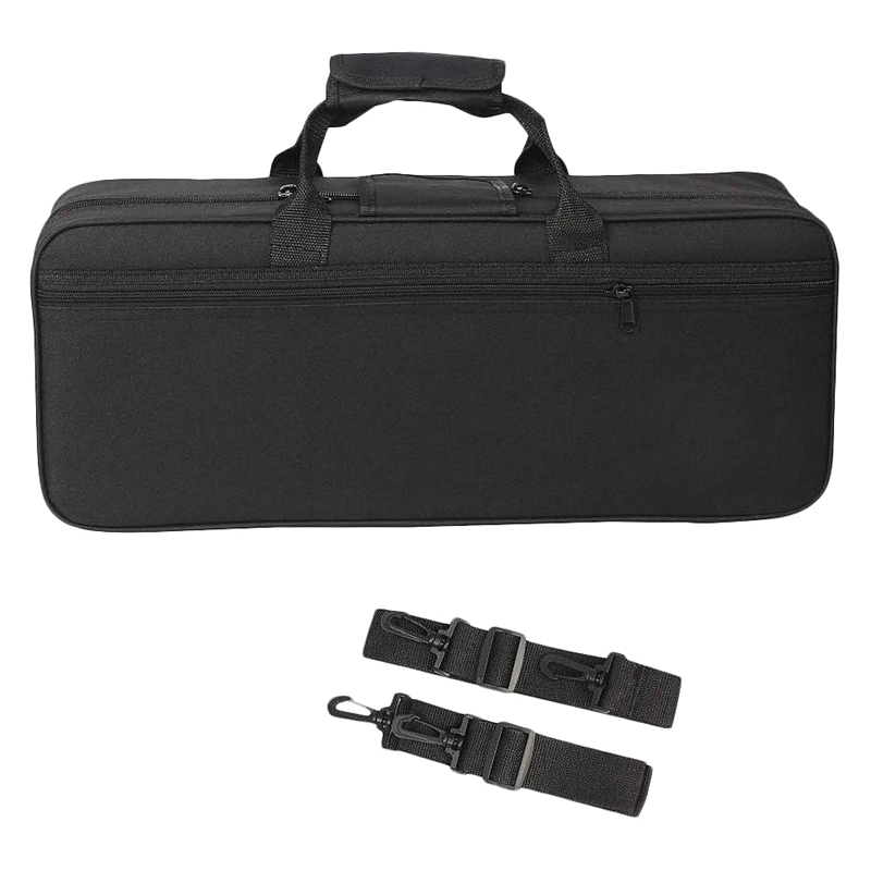 Trumpet Gig Bag Box Backpack Water-Resistant Oxford Cloth Carrying Case with Adjustable Dual Shoulder Strap Pocket Foam Cotton Padded