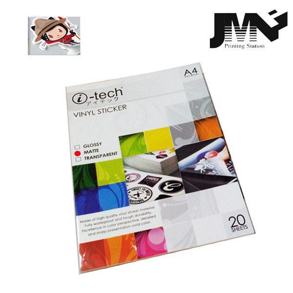 photo about Printable Vinyl Sticker Paper named I-tech Water resistant Printable Vinyl Sticker