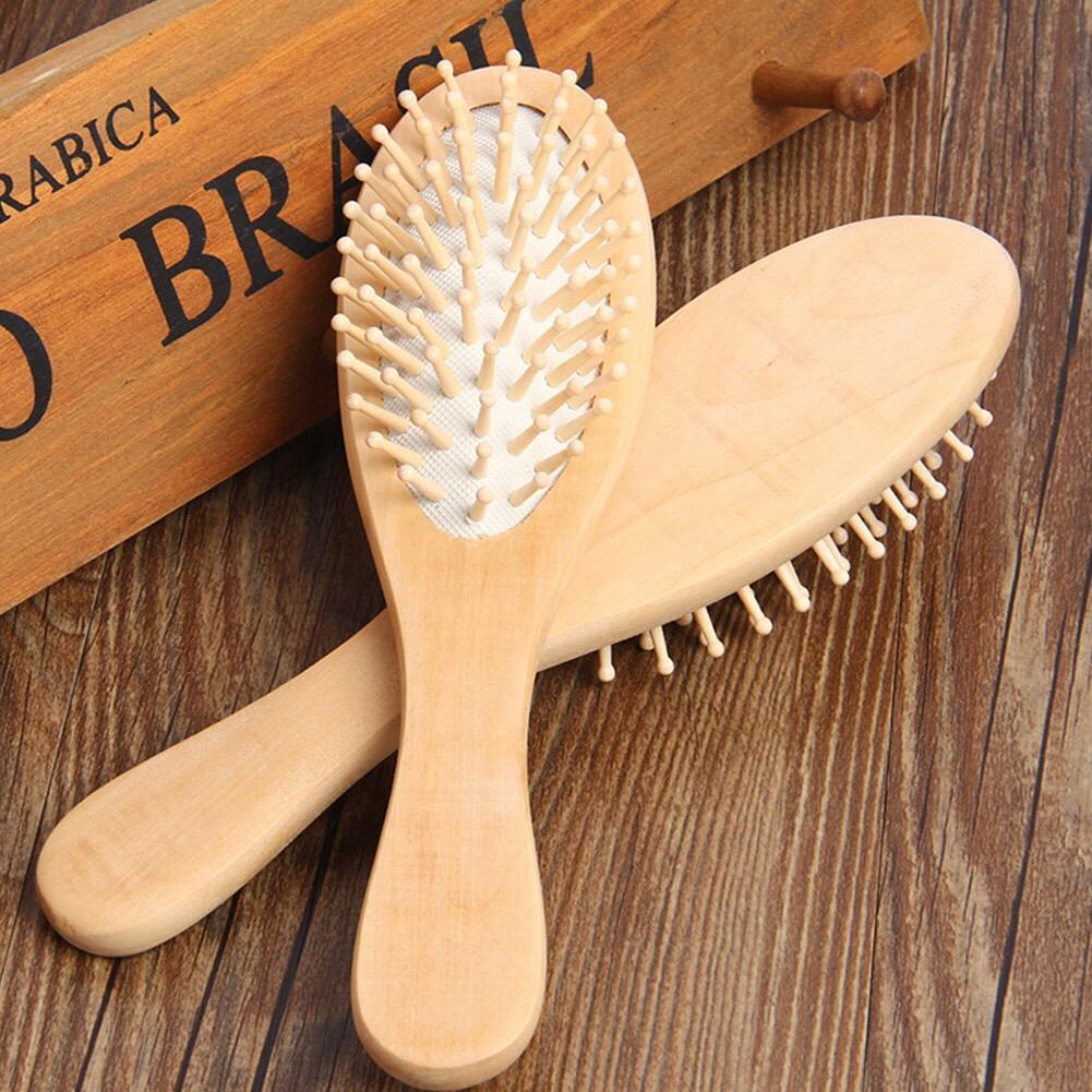 Wooden Hair Small Brush Wooden Hair Comb Wood Plain Brush