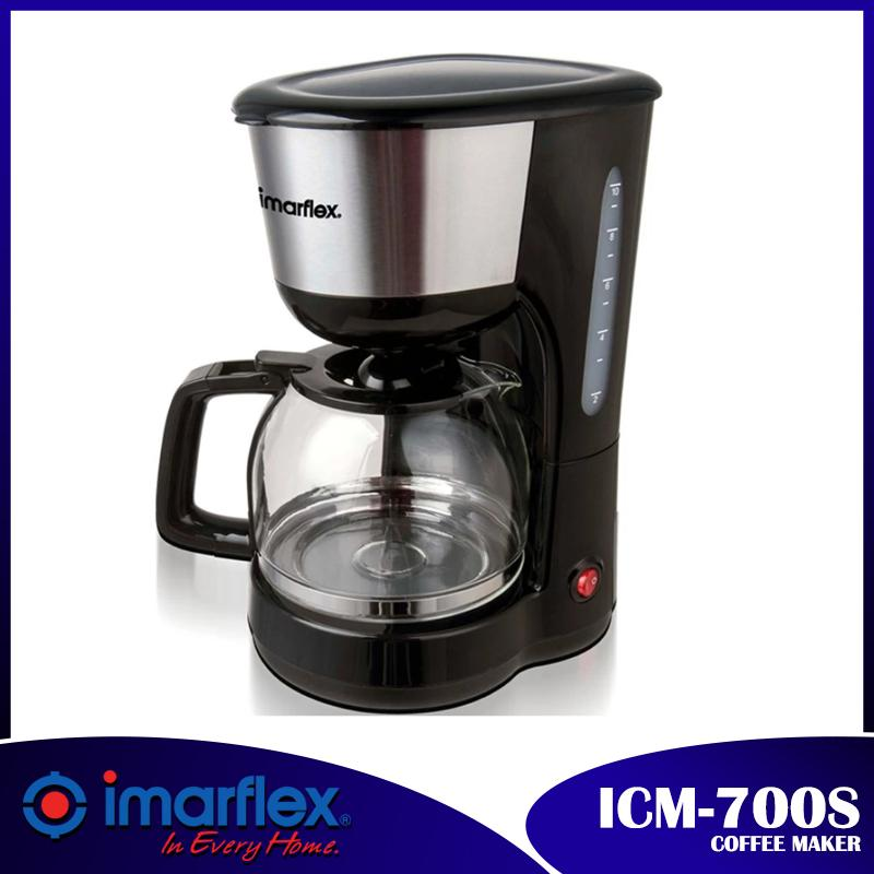 Imarflex Icm-700s 8-10 Cups Coffee Maker (black/stainless) By D&d.
