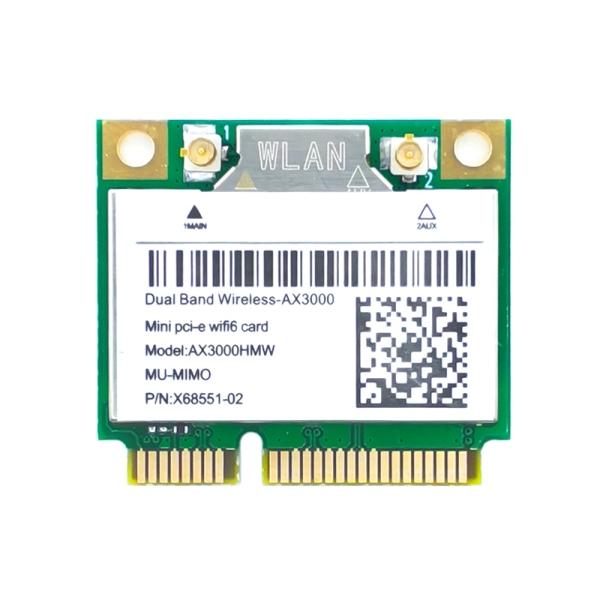 Bảng giá Mini PCI-E AX200 AX3000 Wi-Fi 6 Wireless Adapter Dual Band Bluetooth 5.1 Wifi Card 802.11AX 2.4G/5G Wlan Windows10 Phong Vũ