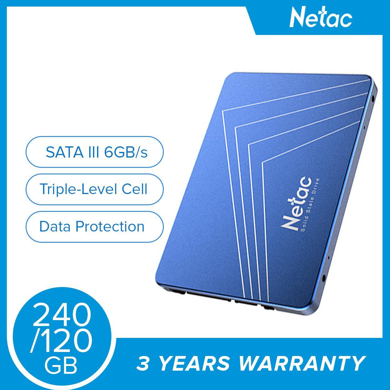 "Netac SSD N535S 2 5"" SATA III 6Gb/s 120GB/240GB Solid State Drive (Blue)"