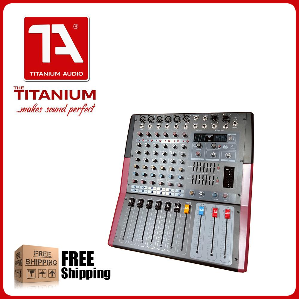 Titanium Audio Powered Mixer RCF6P 6 Channel Professional Mixing Console  with Bluetooth