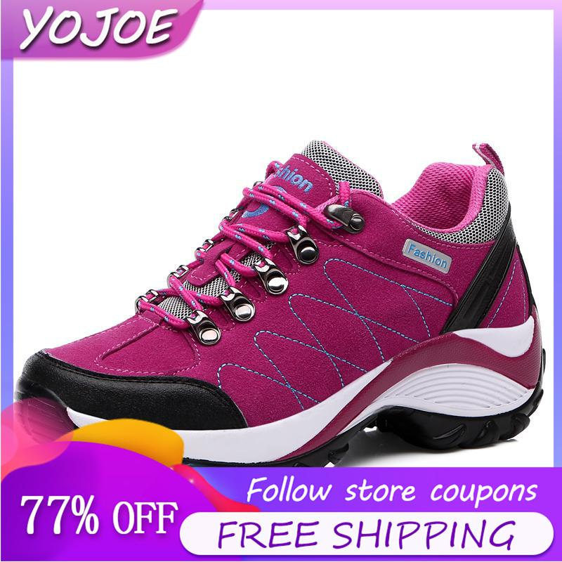 f1067e5e25c Hiking Shoes for Women Fashion Casual Jogging Shoes Increased Waterproof  Sports Shoes Sneakers