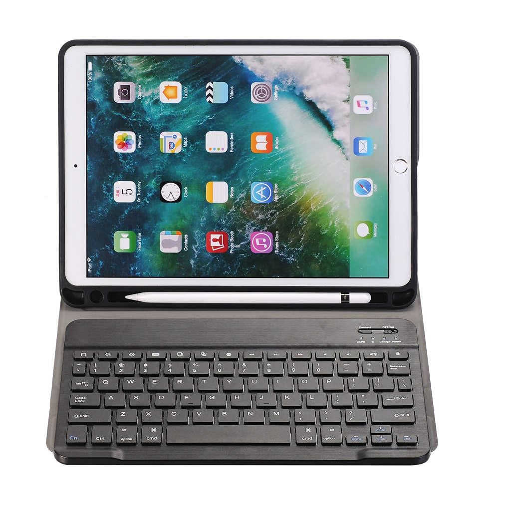 10.5 Case With Detachable Wireless Keyboard, Ultra-Thin Stand Cover Case With Pencil Holder For Apple Ipad Pro 10.5 Tablet (Black) Malaysia