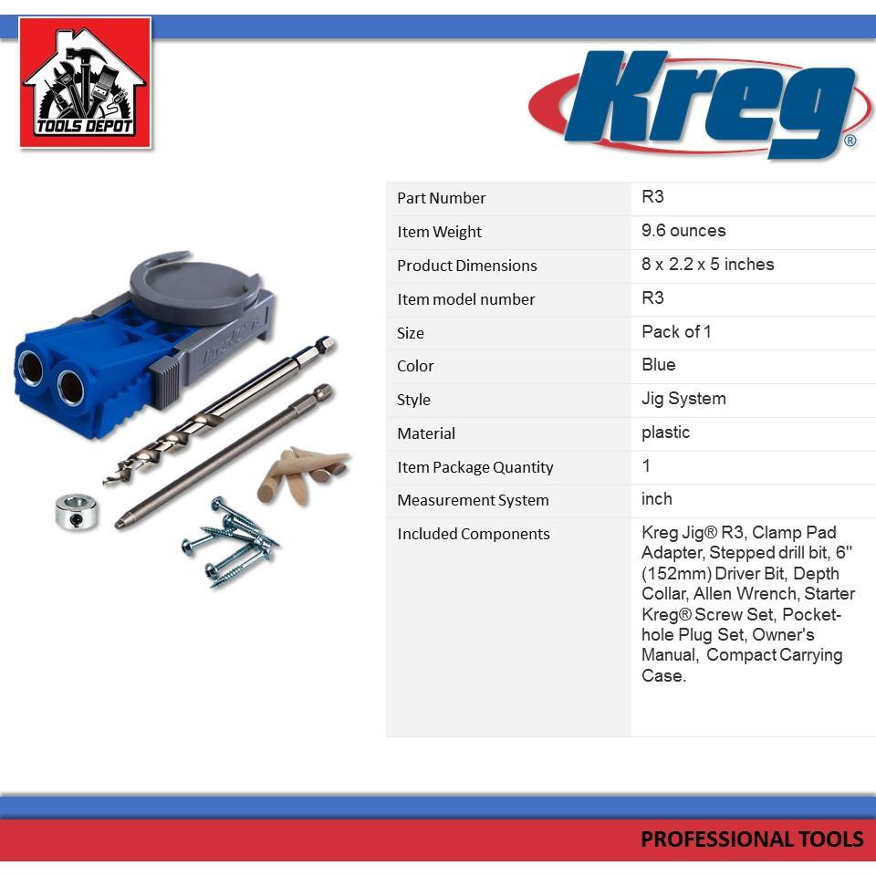 Kreg Jig R3 Pocket Hole Jig System