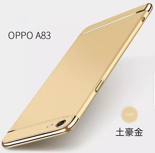 For OPPO A83 Hard Case 3 in 1 Full Protection Hard Matte Plating Case Phone Cover