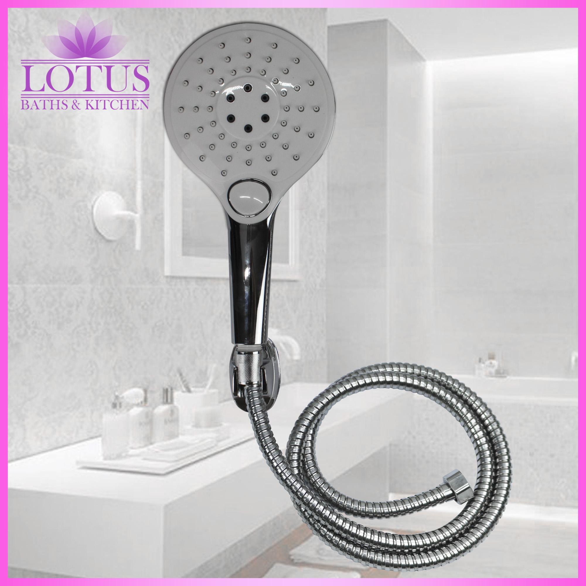 Lotus S 702 Complete Handheld Shower Head Hose Rail Kit Shower Hand