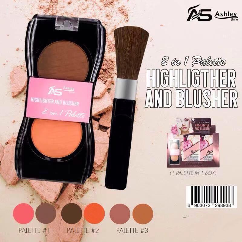 Ashley Highligther And Blusher (2in1 Palette) By Shine Fashion Store.