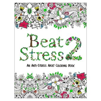 Beat Stress II Adult Coloring Book (White)