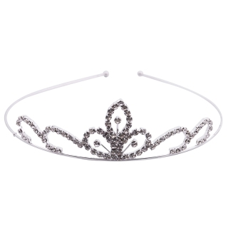 Wedding Party Bridal Tiara Children Crown Headband Clear Rhinestone thumbnail