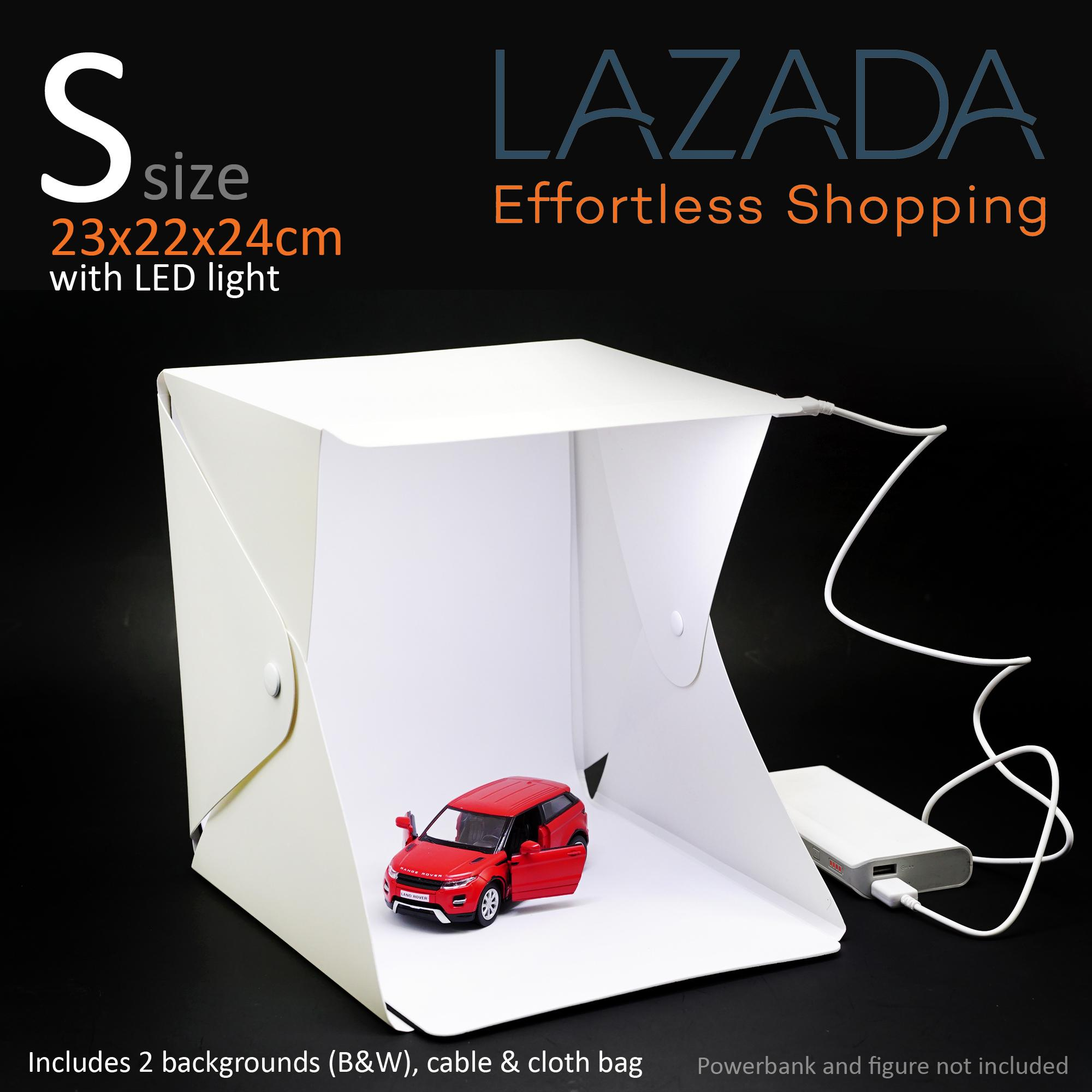 Small 20cm Lightbox Portable Photo Studio Light Box Folding Photography  Shooting Tent Kit with LED Lights And Background
