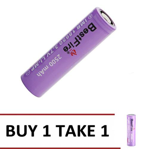 Best-Fire IMR18650 35A 2500mAh  Rechargeable Li-Ion Battery  BUY 1 TAKE 1